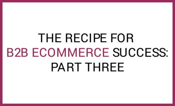 B2B eCommerce success part three