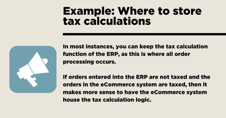 Tax calculations Example