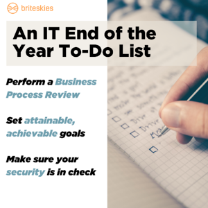 End of the Year To-Do Blog