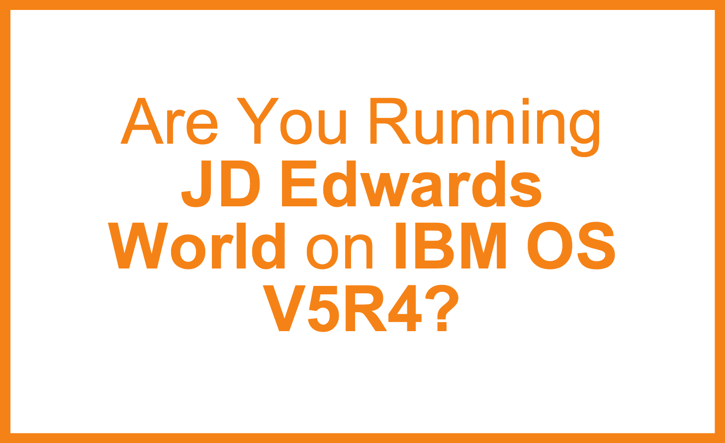 JDE_World_on_IBM_V5R4