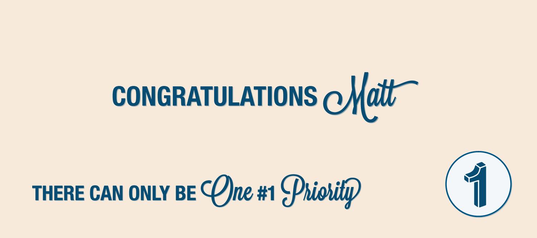 One Priority Award Winner Matt Trimmer
