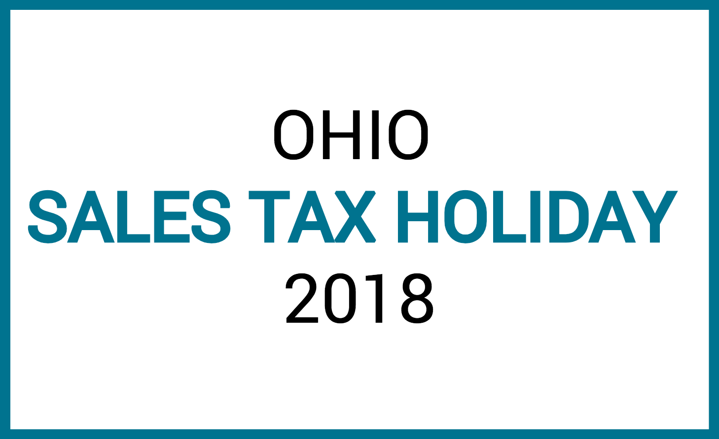 sales tax holiday 2018